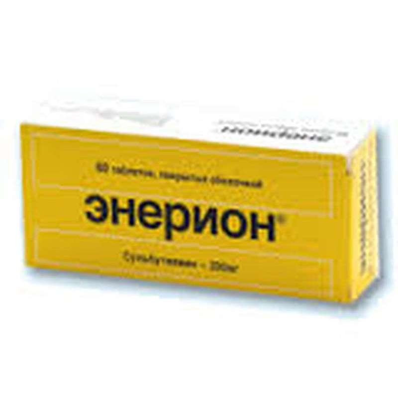 Enerion 200mg 60 pills buy regulating the metabolic processes in the CNS
