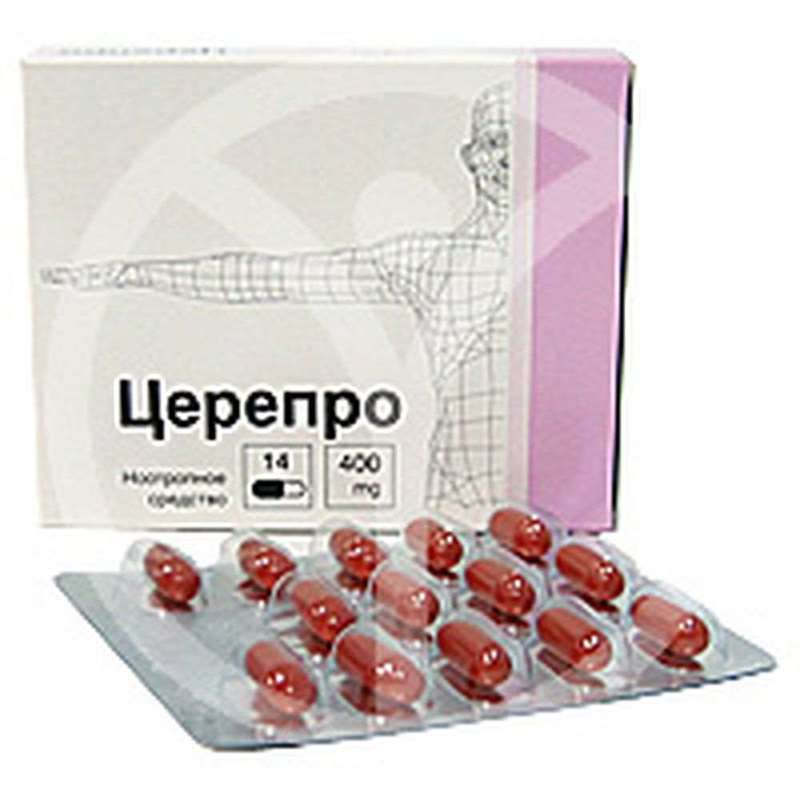 Cerepro 400mg 14 pills buy improves brain function online Cholini alfosceras, Choline alfoscerate