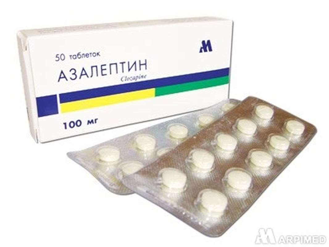 Azaleptin 100mg 50 pills buy antipsychotic Clozapine drug online