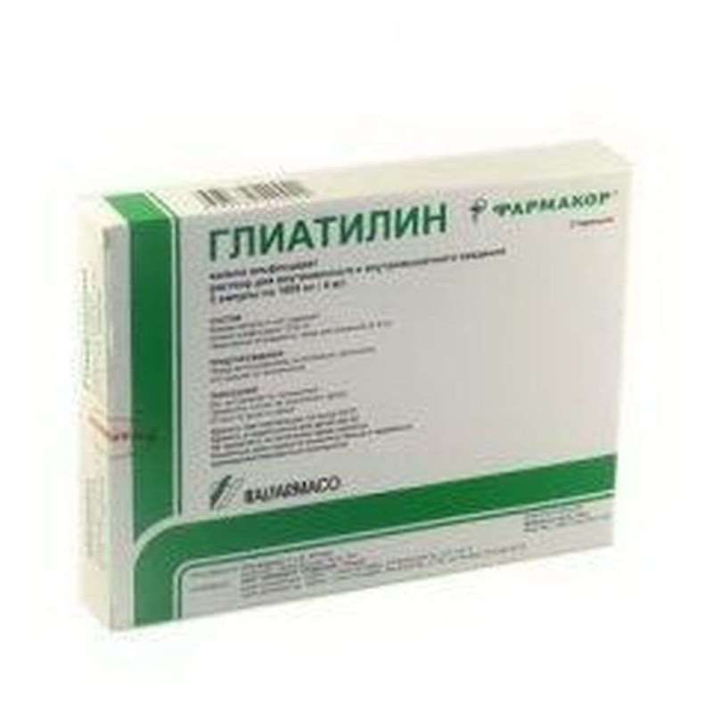 Gliatilin injection 1000mg/4ml 3 vials buy neuroprotective drugs online