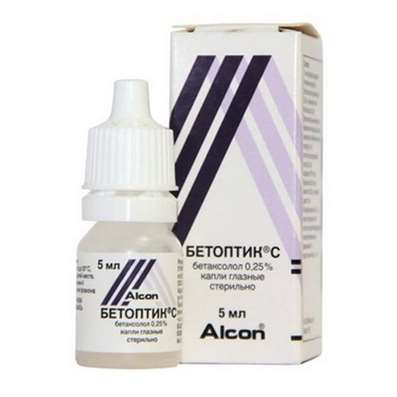 Betoptic C eye drops 0.25% 5ml buy antiglaucoma preparation online