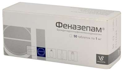 Phenazepam 1mg 50 pills buy Tranquilizer (anxiolytic) online