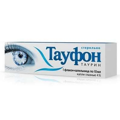 Taufone eye drops 4% 10ml stimulates metabolic, energy processes in the tissues of the eye